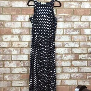 Black and White Michael Korda Maxi Dress